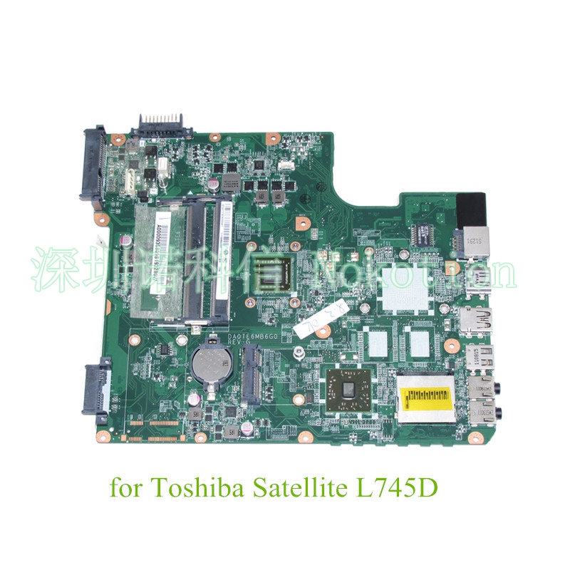 NOKOTION DA0TE6MB6G0 REV G A000093580 For Toshiba Satellite L745 L745D laptop motherboard EME450 CPU DDR3 nokotion v000185020 for toshiba satellite l505 laptop motherboard gm45 ddr2 6050a2250301 mb a03