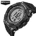 SANDA New Brand Watch Men Military Sport Watches Fashion Silicone Waterproof LED Digital Wristwatch For Men Clock digital-watch