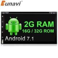 Eunavi 2 Din Quad Core Android 7 1 Car Dvd Player Universal GPS Navigation Audio Stereo