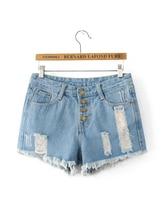 Simenual Fashion summer denim shorts women clothing ripped tassel buttons vintage jeans short feminino 2017 slim sexy shorts hot