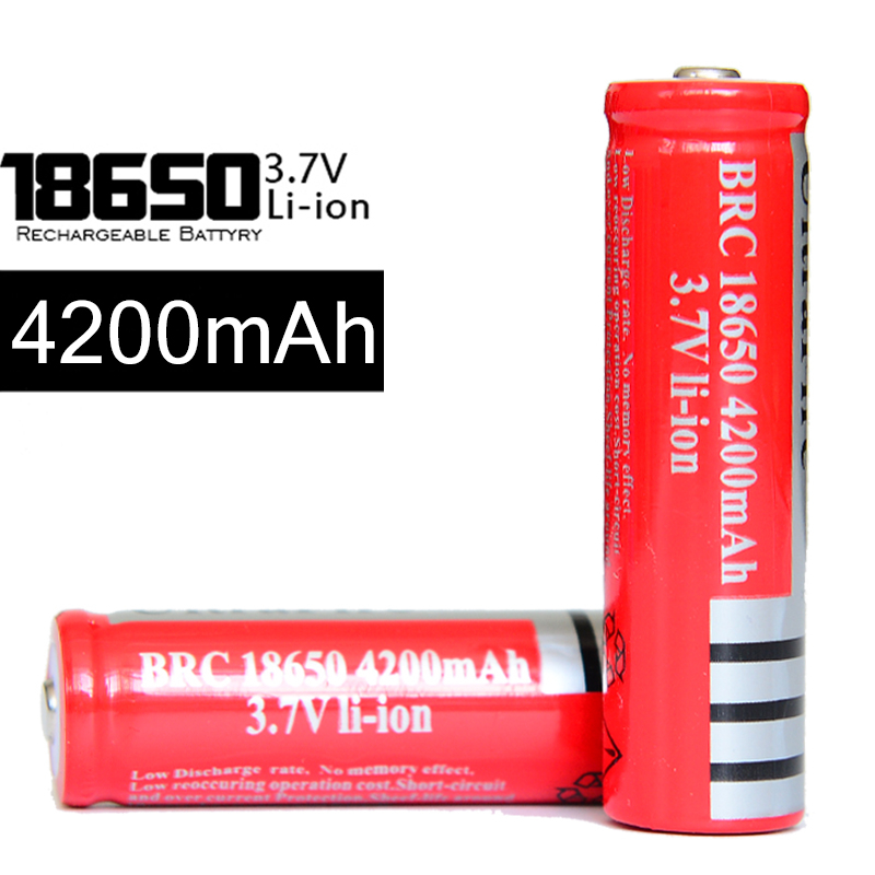 KingWei 10Pcs/lot 3.7V 18650 Battery 4200mAh Li-ion Rechargeable for Led Torch Flashlight Toys Camera Bateria Wholesale