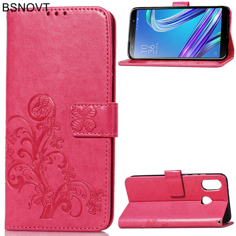 For ASUS Zenfone Max M1 ZB555KL Case Soft Silicone Leather Wallet Anti-knock Case For ASUS Zenfone Max M1 ZB555KL Phone Bag Case