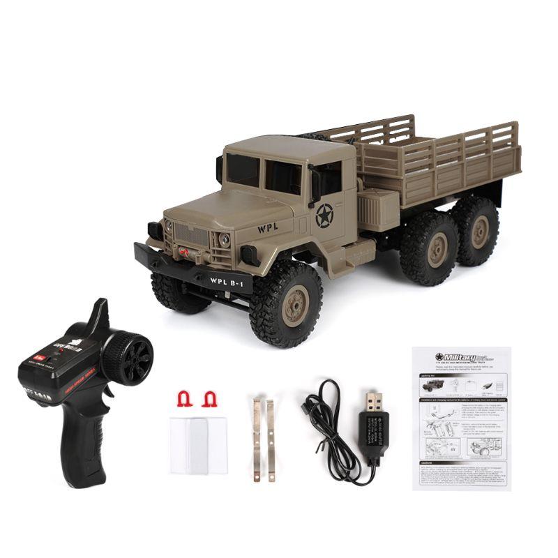WPL B16 RC Military Truck Kits 4WD 1/16 Off-road Crawler Car Toy Boys Kids DIYWPL B16 RC Military Truck Kits 4WD 1/16 Off-road Crawler Car Toy Boys Kids DIY
