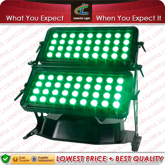 (free shipping) 72x10W Outdoor 4 in 1 LED wall washer  (CL-4072) with Flight case
