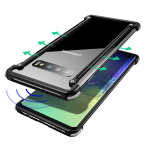 Image 4 - Oatsbasf Luxury Metal Case For Samsung Galaxy S10 S10 Plus S10e Personality for Metal Bumper Cover shockproof  Case