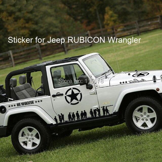 Black Car Sticker For Jeep Rubicon Wrangler Oscar Mike Oscarmike