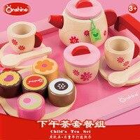 Onshine 19pcs Pink Simulation Kitchen Food Cake Tea Set Play Pretend Toy Girls Baby Child Kid