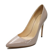 Dropshopping Spring Summer New Pointed Toe Sexy Ladies Shoes Large Size 8.5/10CM Heels Women Party Wedding Dress Pumps D001C