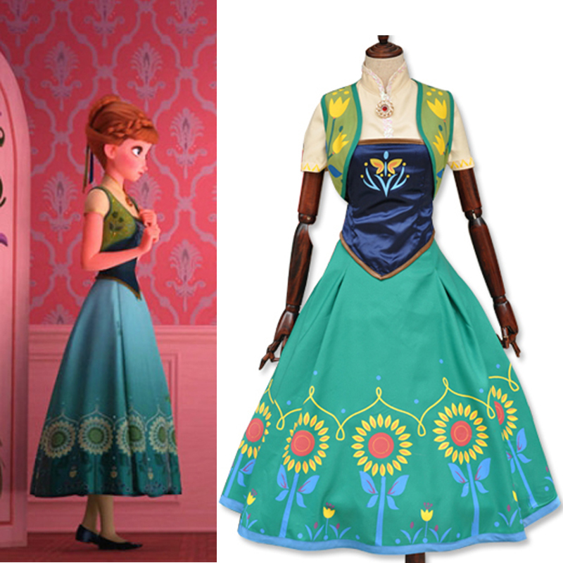 Halloween Costume for women Princess anna cosplay costume adult white snow fever party dresses movie costume girl fancy dress hot new year children girls fancy cosplay dress snow white princess dress for halloween christmas costume clothes party dresses