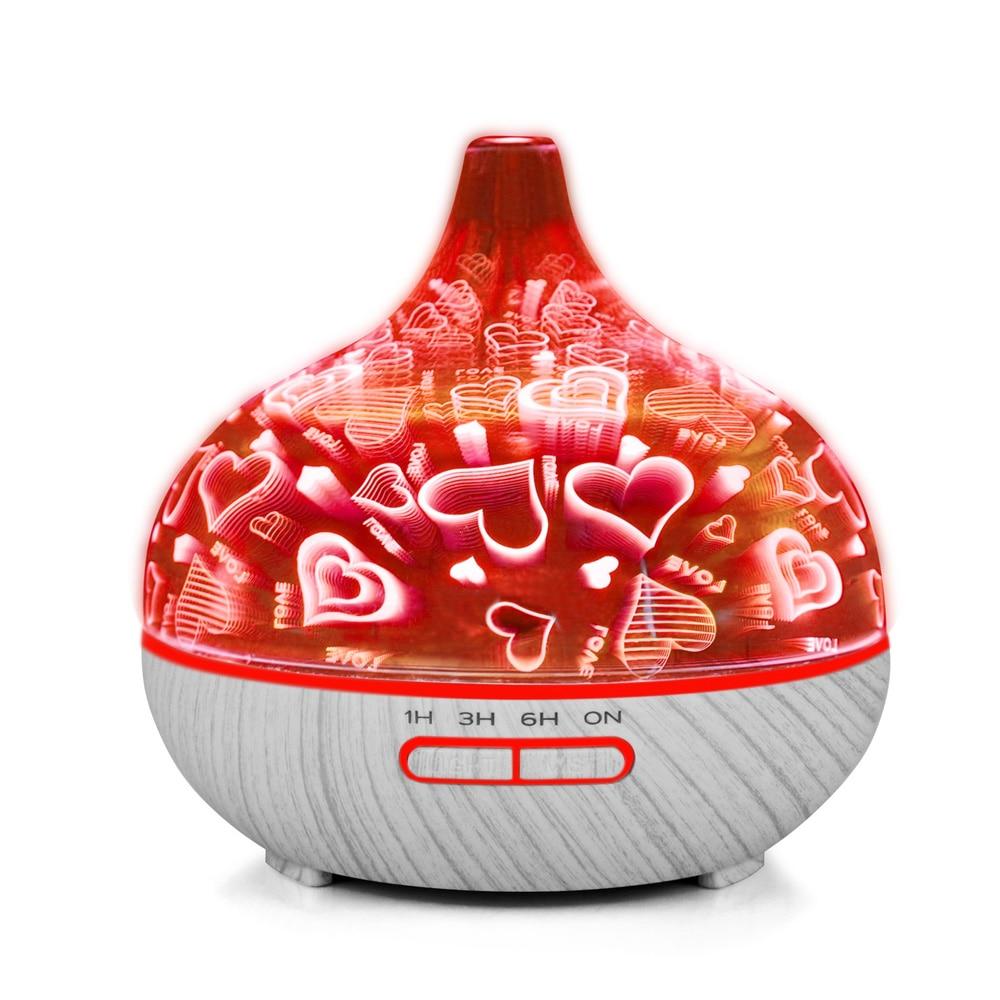 400 ml Mini Aria Umidificatore per la Casa Olio Essenziale Diffusore Humidificador Mist Maker 7 Colore LED Aroma Diffusore Aromaterapia