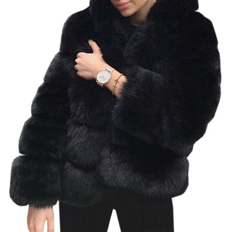 Michealboy Mens Coat Winter Warm Turn-Down Collar Zipper Faux Fur Outwear Jacket