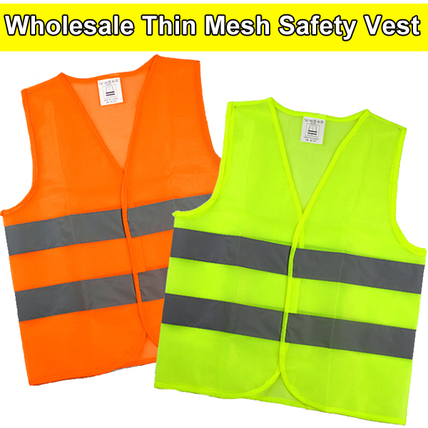 Spardwear High Visibility Mesh Reflective Safety Vest Logo Printing Free Shipping Security & Protection