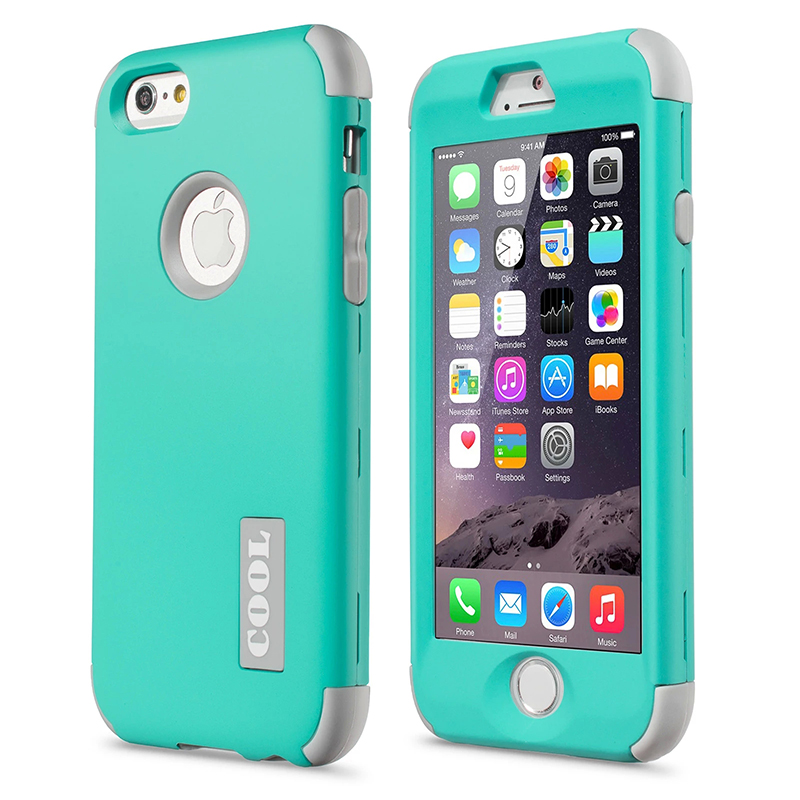 New For Apple iPhone 6 4.7″ Protect Case Cover Slim Hybrid Dual Layer Shockproof TPU Hard Phone Cases w/Screen Protector+Pen
