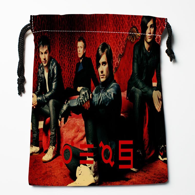 New Arrival 30 Seconds to Mars Drawstring Bags Custom Storage Printed Receive Bag Type Bags Storage Bags Size 18X22cm