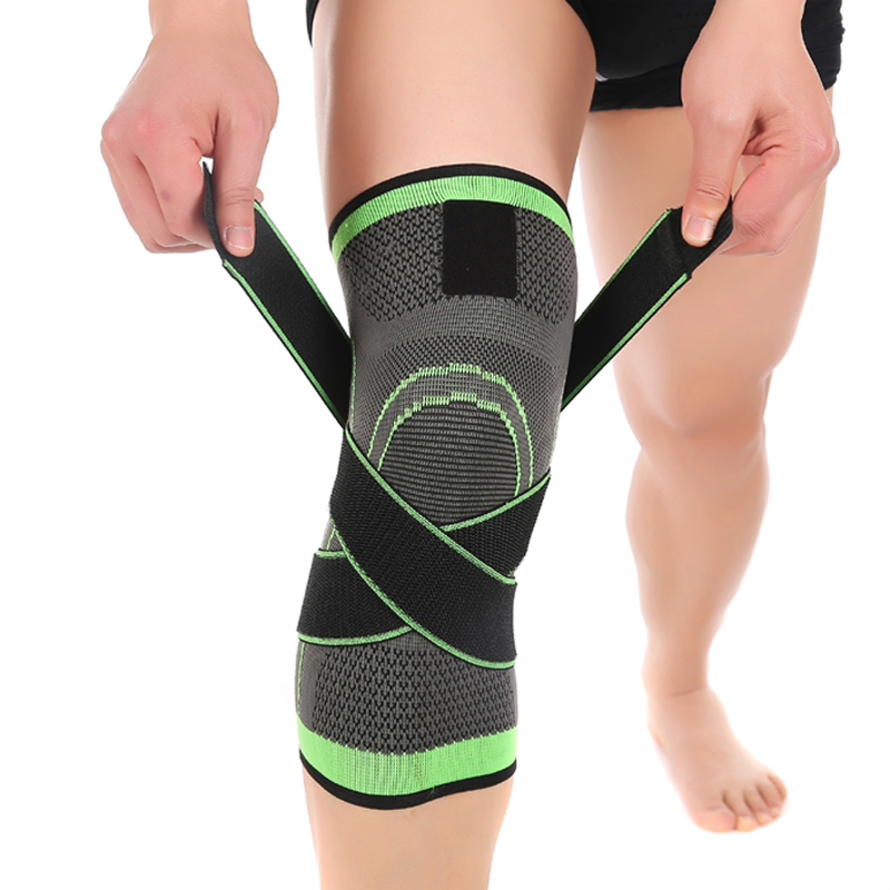 3D Pressurized Fitness Running Cycling Knee Support Braces Elastic Nylon Sport Compression Pad Sleeve For Basketball
