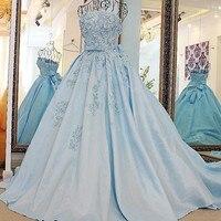 Элегантный Восточный Вечернее Платье Синего атласа без бретелек аппликация кружева элегантные длинные платья Для свадебной вечеринки Фак