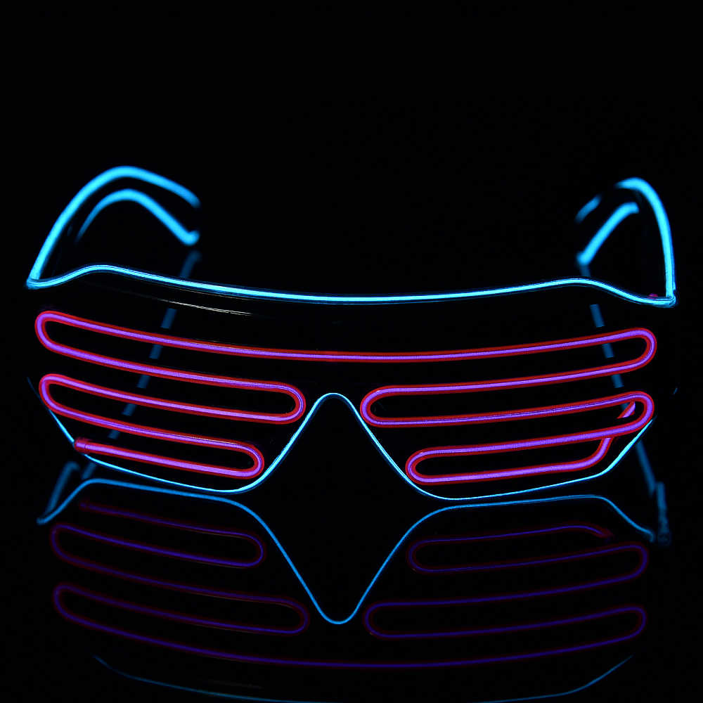 bf39f8a31b4e Detail Feedback Questions about Led Glasses For Parties Light Up Shades  Luminous Party Led Neon Glow Glasses Flashing Sunglasses New Year  Decorations on ...