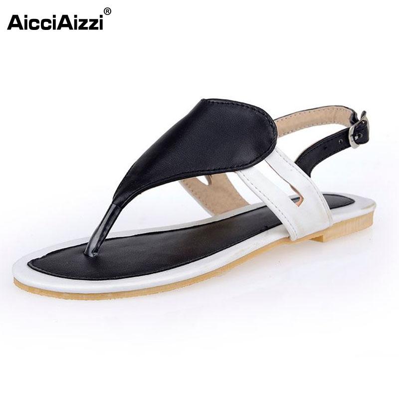 Size 32 47 Shoes Woman Famous Brand Flip Flops Ladies Clip Toe Gladiator Sandals Women Branded