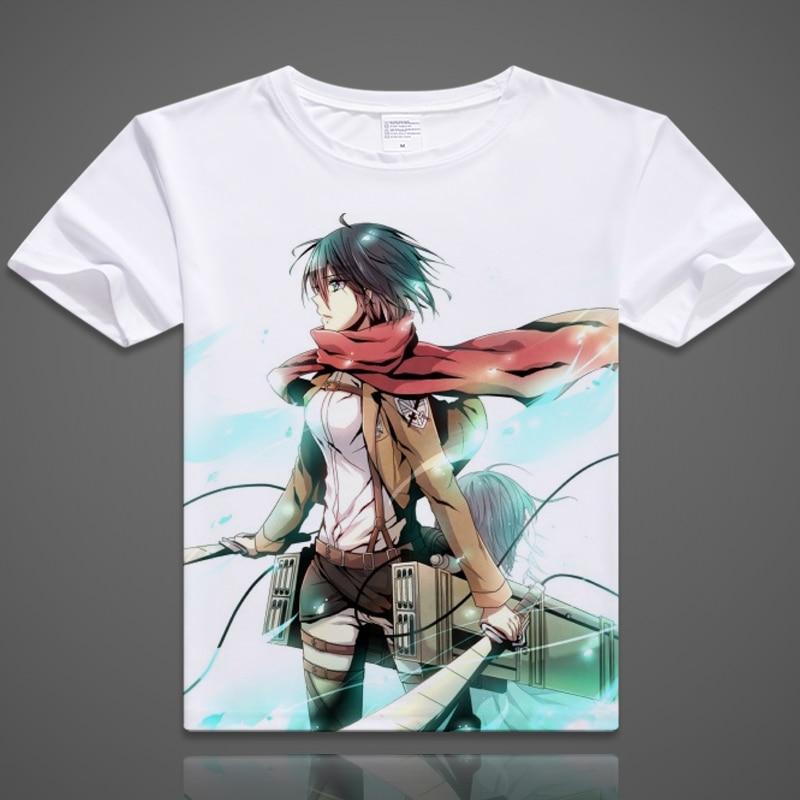 2016digital printed hot anime Attack on Titan T-shirt Fancy shirt Attack on Titan fashion short-sleeve T-shirt men tshirt summer