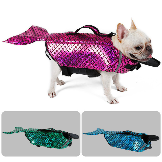 Pet Clothes Dog Life Jacket Mermaid Cold Sea-Maid Pet Costume Swimming Clothes Apparel 1