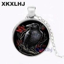 Купить с кэшбэком XKXLHJ Fashion Antique Owl Animal Statement Necklace Jewellery Bird Choker Glass Cabochon Pendant Necklaces For Women's Gift
