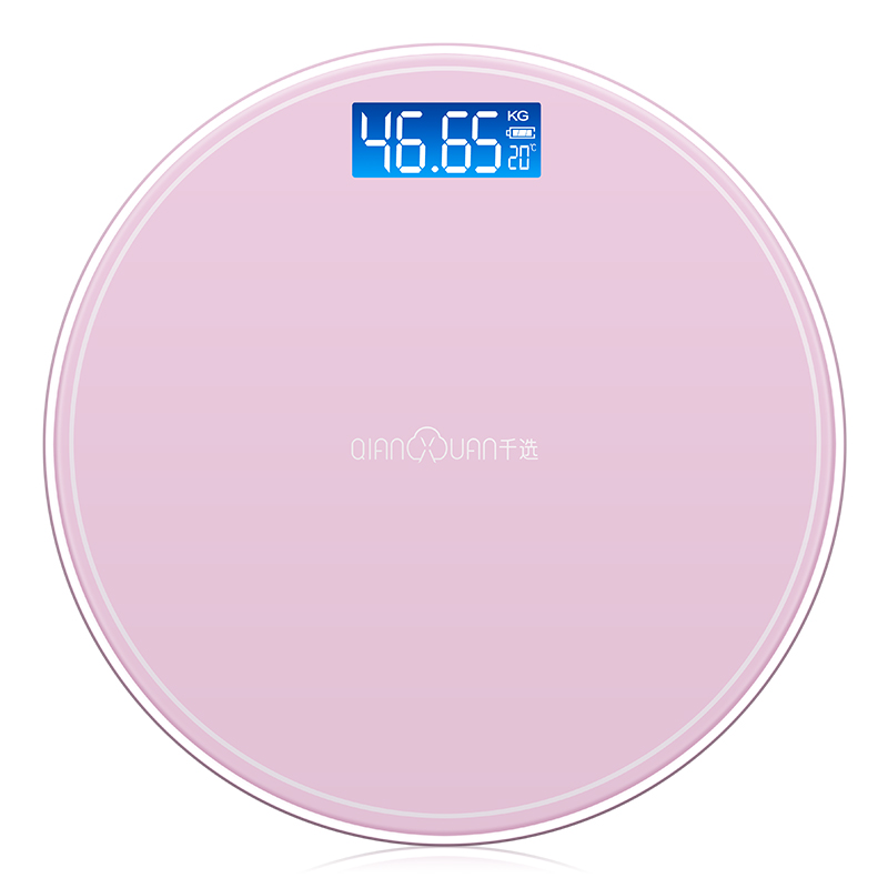 Round Bathroom USB Smart Weighing Scale Body Weight Measure Digital Mi Floor scales Bascula Digital Peso Corporal Black Pink