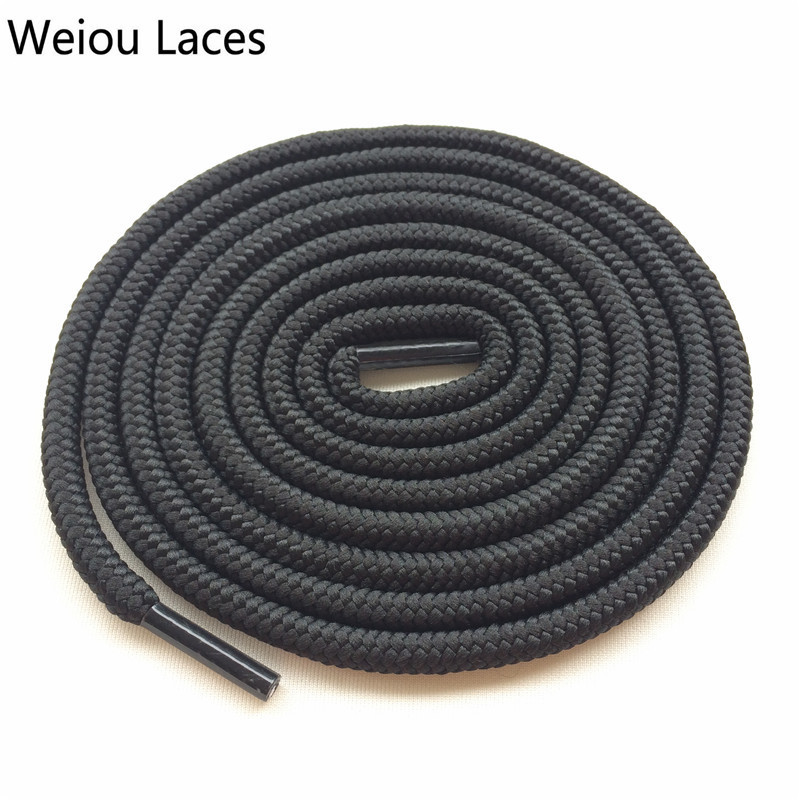 Weiou Hot Fashion Shoe Laces Replacement Round Polyester Rope Laces Solid Color Shoestring Strings For Basketball Shoes Sneakers