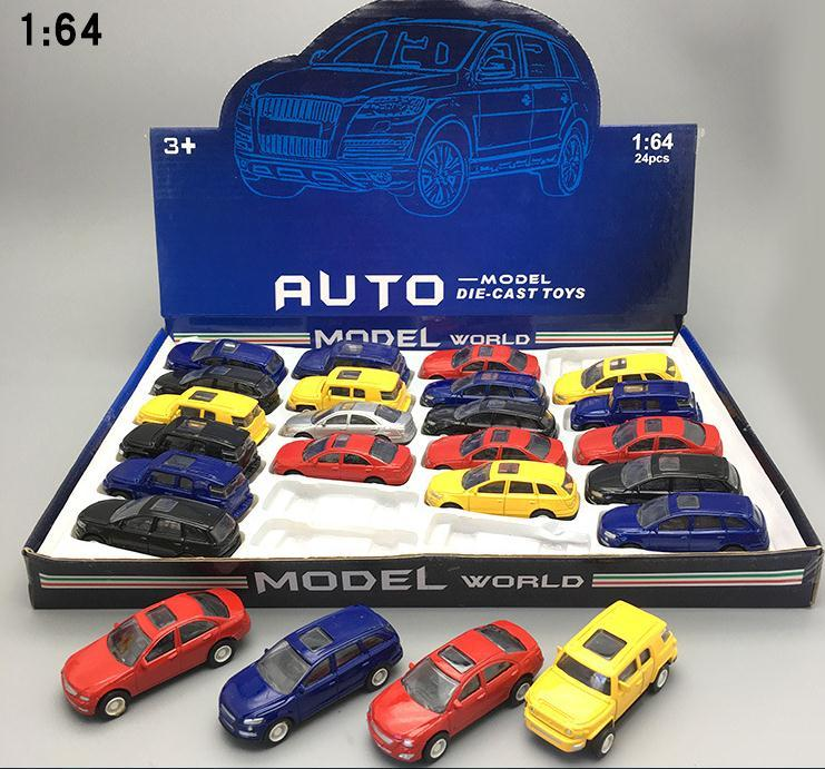 Classic Toys! 1:64 Alloy Car Toy Model Mini Car Random Mixed 24 Pieces Lot Kids Intellectual Toys Free Shipping