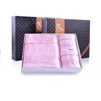 Decorative Luxury Bath Towel Sets Egyptian Cotton 3 Pieces Toalha De Banho Towels Bathroom Toallas Women
