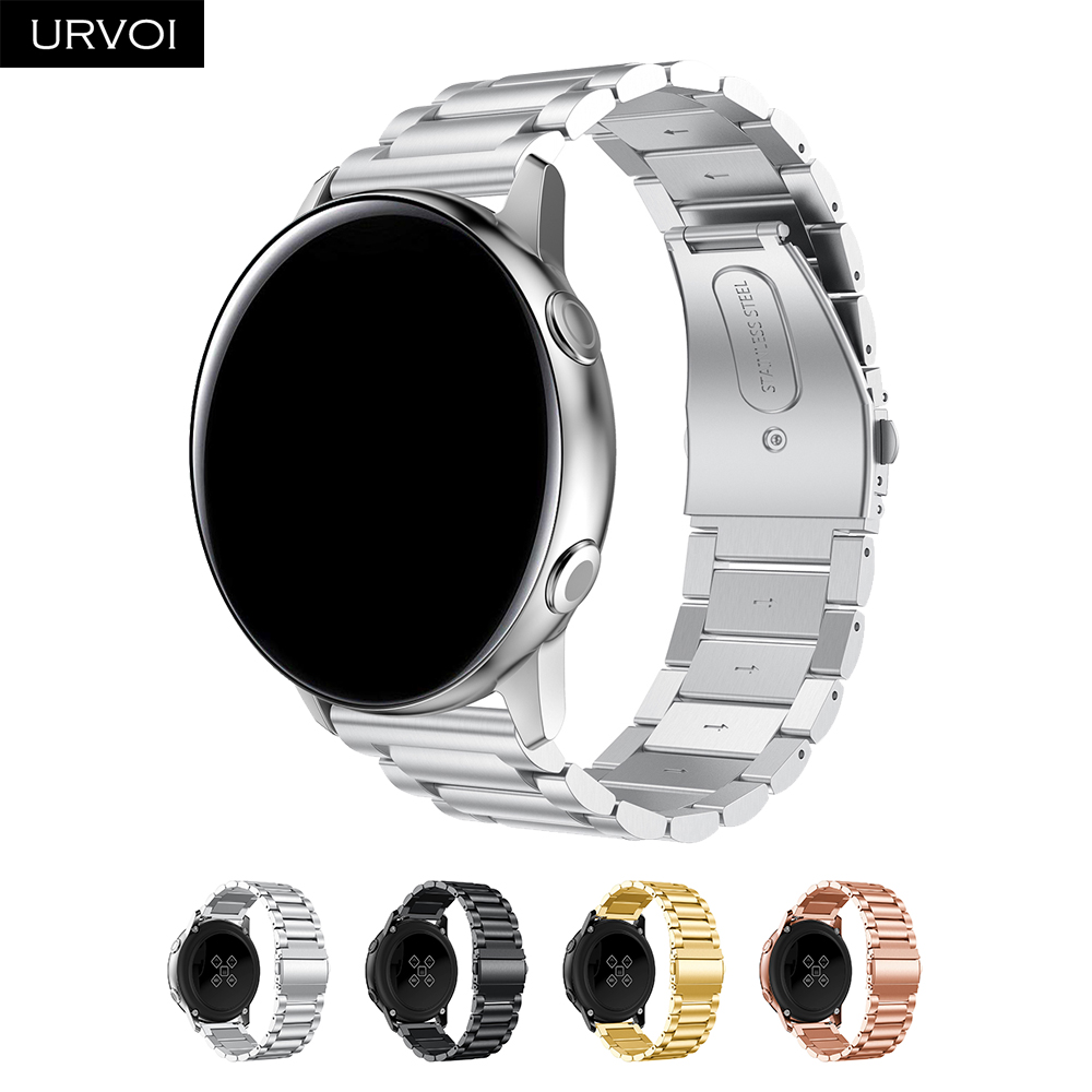 URVOI stainless steel band for Galaxy Watch Active 42 46mm strap 3 rows Fold over clasp quick release durable wristURVOI stainless steel band for Galaxy Watch Active 42 46mm strap 3 rows Fold over clasp quick release durable wrist