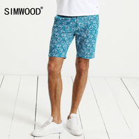 SIMWOOD Casual Shorts Men Slim Fit 2017 Summer Fit Print Fashion Cotton Breathable Male Brand Clothing