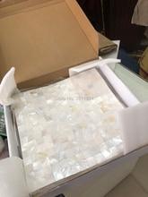 Толщина 2 мм бесшовная белая мозаичная плитка 20 мм частицы интерьера стены дизайн перламутровая мозаичная плитка