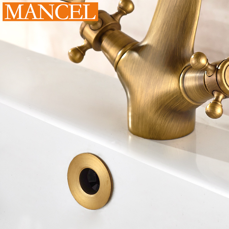 MANCEL Solid Brass Bathroom Sink Basin Overflow Cover 4 Colors ...