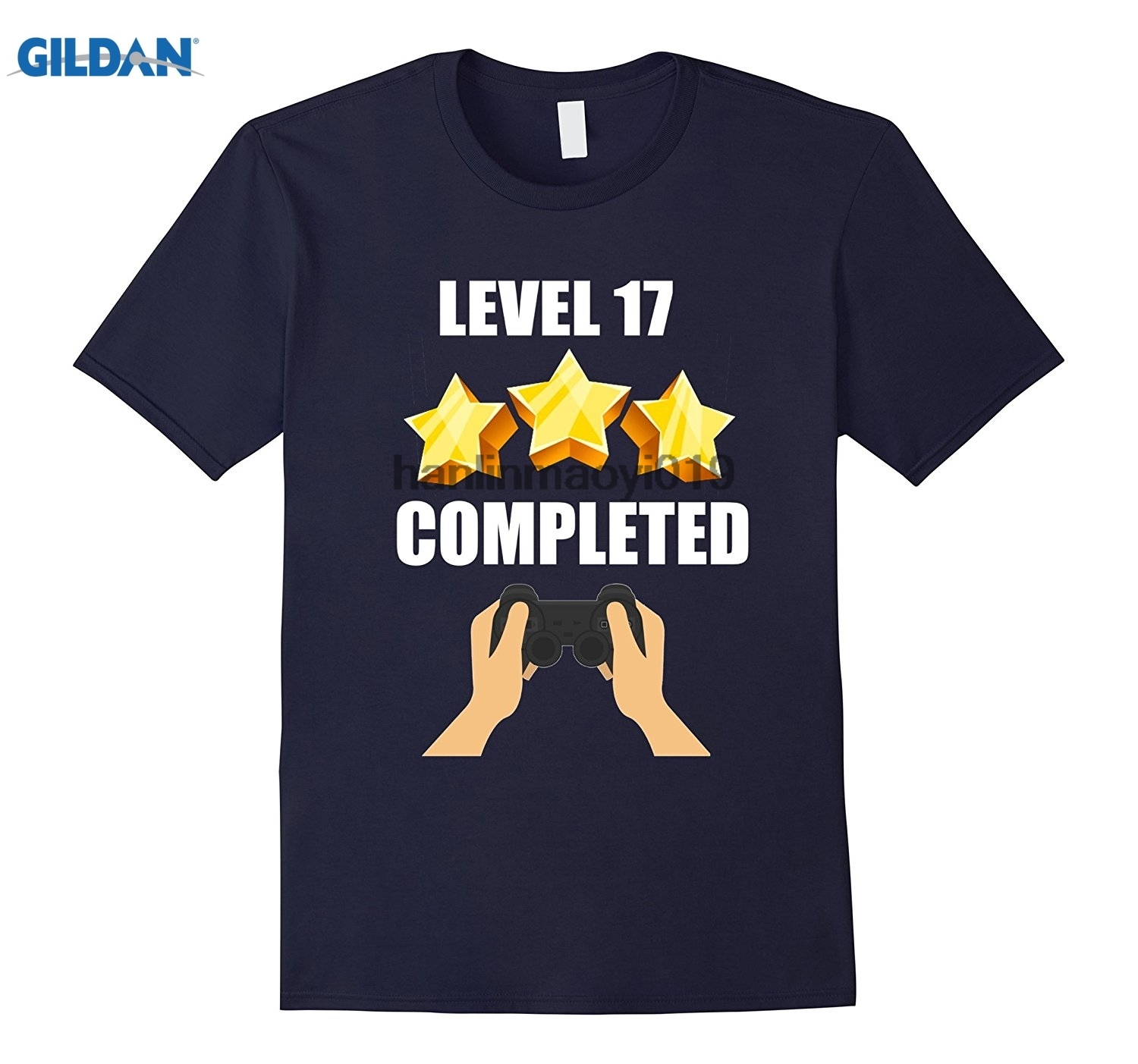 GILDAN Level 17 Complete Funny Video Games 17 Birthday Gift T-Shirt