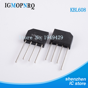 5PCS/LOT KBL608 KBL 608 Bridge Pile 6A 800V ZIP Flat Bridge Rectifier New