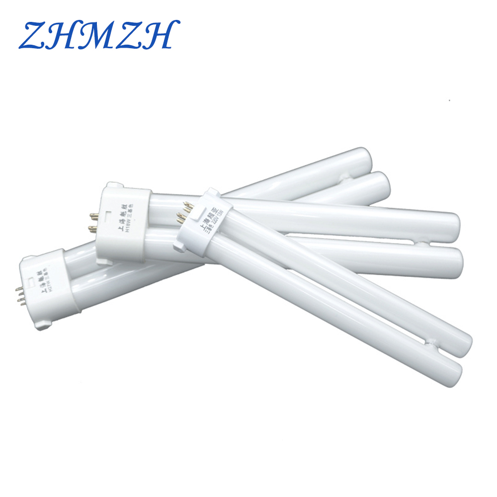 220V Party Four Needles Desk Lamp Tubes Eye-protection Lights 13W 18W 27W Square Four-pin Trichromatic Tube Fluorescent Lamps
