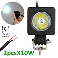 Universal Cool White Hot Selling High Quality 10w Led Work Light 12 Volt Led Light Motorcycles