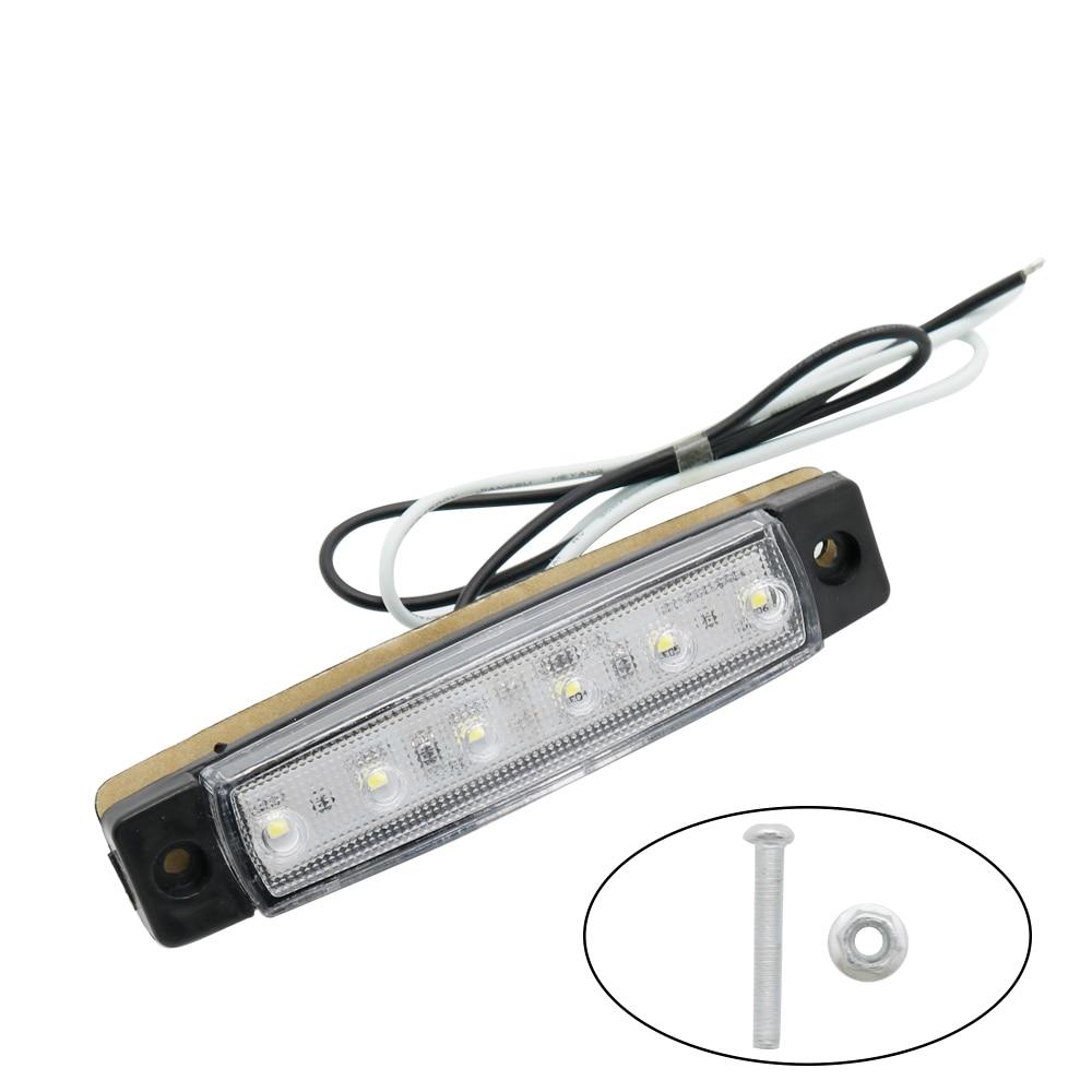 10 шт. 6 светодиодный габаритный фонарь для грузовиков, грузовиков, автобусов, боковой габаритный фонарь, белый габаритный светильник для при...
