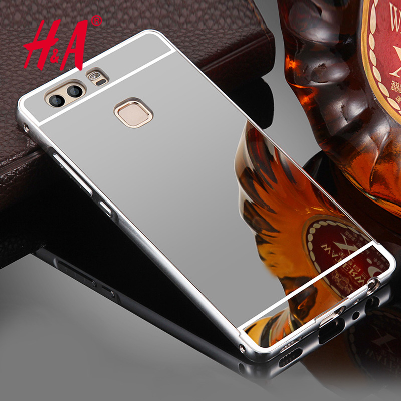 H&A Luxury Mirror Soft Case For Huawei P9 Lite Cases Fashion TPU Frame Cover For Huawei Ascend P8 P9 Lite Honor 8 Capinha Coque