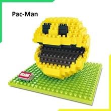 Новая игрушка пиксели PacMan микро Блоки Модель для сборки Сделай Сам экшн мультяшная фигурка Ослик Конг qber строительный комплект подарок-игрушка для мальчика мультфильм