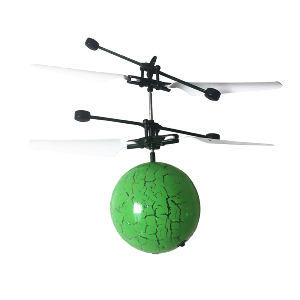 Glowing LED Magic Flying Ball Sensing Crystal Helicopter Induction Aircraft  Glow in the Dark Toys