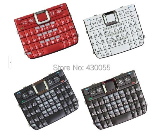 Blanc/Noir/Rouge/Gris Nouveau Logement Accueil Fonction Principale Claviers Claviers Boutons Couverture Pour Nokia E71, livraison Gratuite