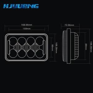 Image 4 - HJYUENG светодиодный светильник 4X6 дюймов прямоугольный 60 Вт Светодиодный светильник для Peterbilt Kenworth FREIGHTLINER 12V 24V 5 Inch H4