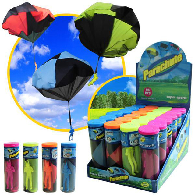 Mini Hand Throwing Parachute Outdoor Sports Fly Toy Educational Kids Playing Soldier Parachute Fun Flying Toy for Children