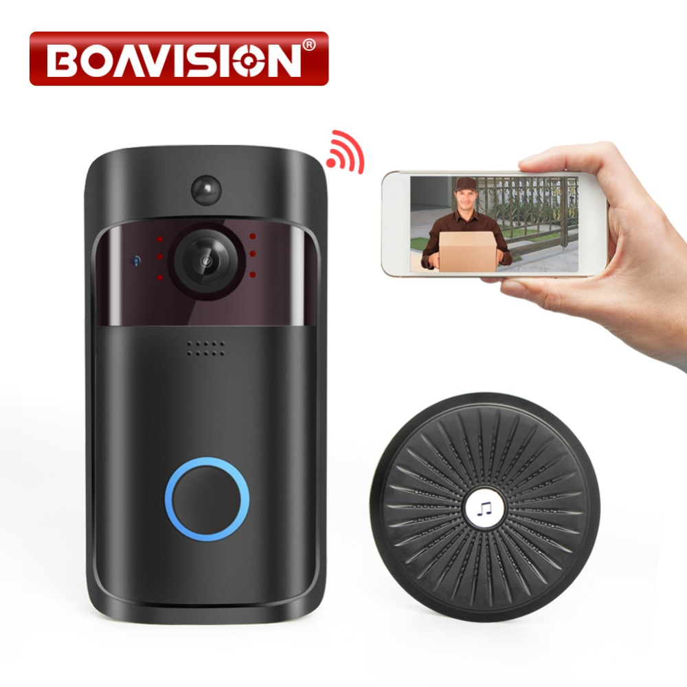 Wireless Security Smart WiFi DoorBell Video Visual Recording Low Power Consumption Remote Home Monitoring Night Vision