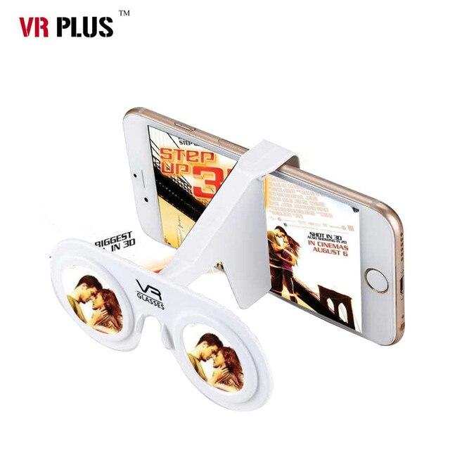 193c785cf801f2 VR Vouw 3D Bril Plastic Kartonnen Draagbare VR Glazen Opvouwbare Ultralight Virtual  Reality Game Bril voor