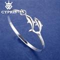 LOVE CYPRIS Hot  Promotion  silver  fashion Bracelet Bangles Dolphin Bangle animal style Women Wholesale Free shipping CYPRIS