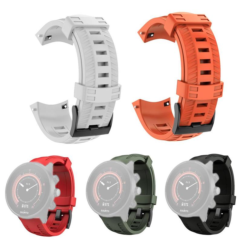 New Smart Watch Sport Silicone Wrist Band Strap Bracelet Buckle For Suunto 9 Baro Watch Strap 22.5cmNew Smart Watch Sport Silicone Wrist Band Strap Bracelet Buckle For Suunto 9 Baro Watch Strap 22.5cm