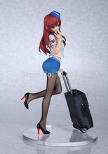 Free Shipping Anime Kaitendoh Twilight airline stewardess uniform Silk stockings sexy PVC Action Figure Sexy Girl Figure Toys