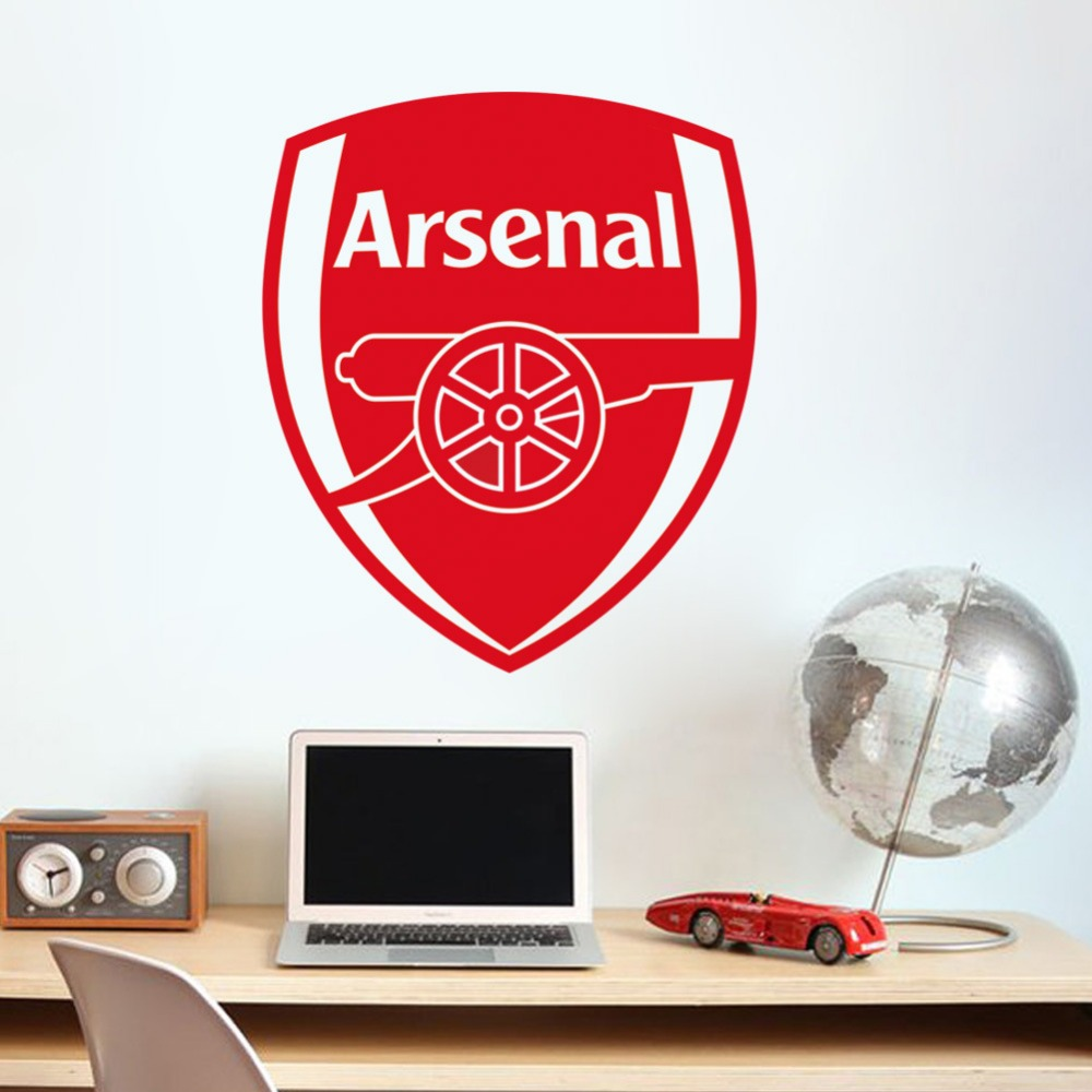 arsenal fc football club logo wall stickers for soccer fans bedroom